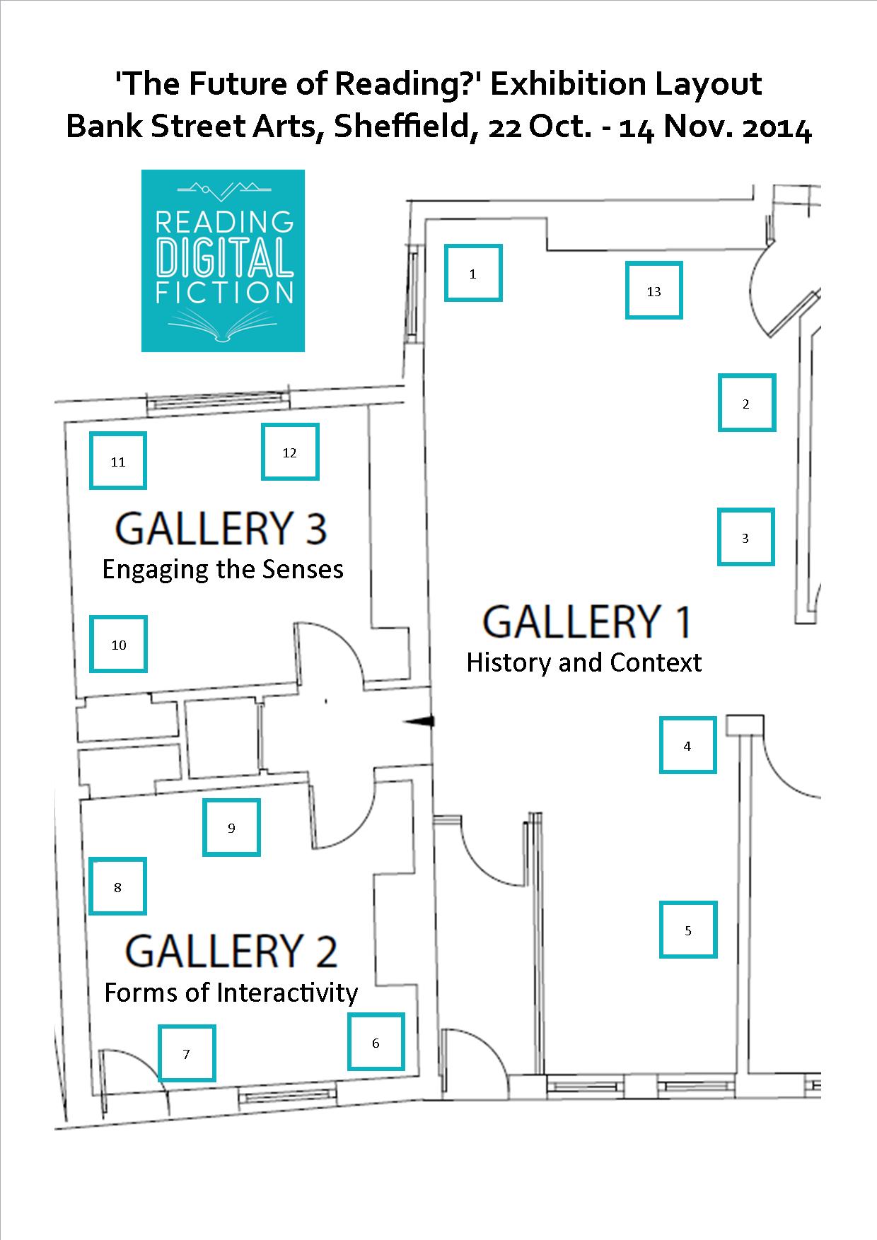 Exhibition Floor Plan Reading Digital Fiction